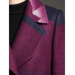 Notched Collar Woolen Coat photo
