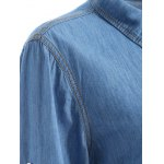 Plus Size Jean Shirt with Pocket deal