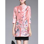 Chinese Style Embroidery Trench Coat