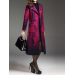 Shawl Collar Belted Longline Coat for sale