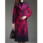 cheap Shawl Collar Belted Longline Coat