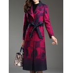 Shawl Collar Belted Longline Coat deal