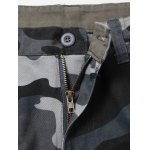 Zipper Fly Straight Leg Camouflage Pockets Embellished Cargo Pants for sale