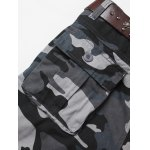 Zipper Fly Straight Leg Camouflage Pockets Embellished Cargo Pants deal