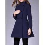 Double Breasted Fit and Flare Coat deal