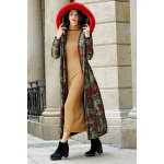 Fur Hooded Printed Longline Padded Coat deal