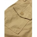 Zipper Fly Straight Leg Splicing Pockets Cargo Pants for sale
