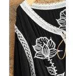 Lace Up Embroidered Tunic Top deal