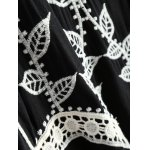 Lace Up Embroidered Tunic Top photo