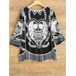 cheap A Line Owl Embroidered Top