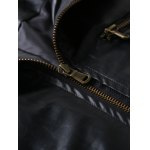 Zip Pocket Stand Collar Faux Leather Jacket deal