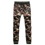 Camouflage Style Round Neck Letters Print Sweatshirt and Pants deal