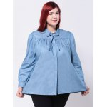 cheap Loose-Fitting Bowtie Design Blouse