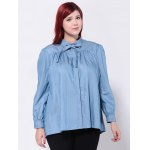 Loose-Fitting Bowtie Design Blouse deal
