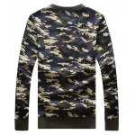 cheap Camouflage Style Round Neck Letters Print Sweatshirt