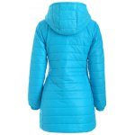cheap Hooded Zip-Up Padded Coat