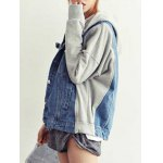 cheap Relaxed Hooded Denim Jacket