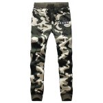 cheap Camouflage Style Letters Print Drawstring Waist Jogger Pants