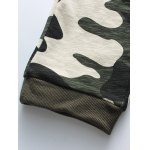 best Camouflage Style Letters Print Drawstring Waist Jogger Pants