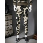 Camouflage Style Letters Print Drawstring Waist Jogger Pants