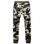 Camouflage Style Letters Print Drawstring Waist Jogger Pants deal