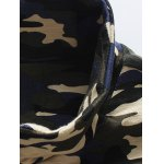 cheap Zip-Up Camouflage Stand Collar Jacket