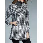 Double Breasted Houndstooth Coat deal