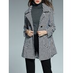 Double Breasted Houndstooth Coat for sale
