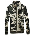 cheap Camouflage Drawstring Long Sleeve Active Suit (Jacket with Pants)
