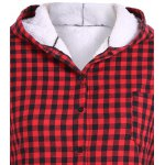 Checked Buttoned Hoodie deal
