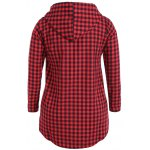 cheap Checked Buttoned Hoodie