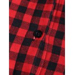 best Checked Buttoned Hoodie