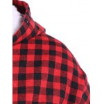 Checked Buttoned Hoodie for sale
