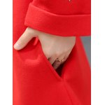 best Stand Neck Embroidered Wool Blend Long Coat