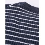 Striped Patchwork Pullover Sweater for sale