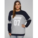cheap Color Block Plus Size Sweatshirt