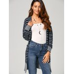cheap Open-Front Striped Cardigan