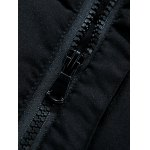 Hooded Covered Zip-Up Lengthen Padded Coat deal