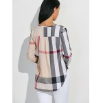 High-Low Checked Slimming Blouse deal