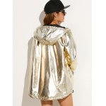 Punk Hooded Metallic Jacket for sale