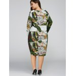 Long Sleeve Plus Size Cocoon Dress for sale