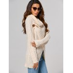 Hollow Out Front Slit Wrap Sweater deal