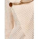 best Hollow Out Front Slit Wrap Sweater
