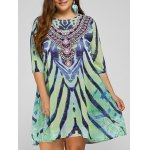 Cool Plus Size African Print Dress