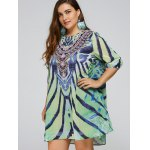 cheap Cool Plus Size African Style Print Swing Dress