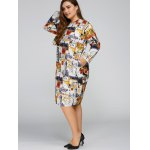 Plus Size Buildings Cocoon Dress with Pocket deal