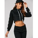 Drawstring East Graphic Short Hoodie deal