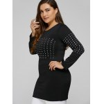 Long Sleeve Plus Size Studded Top deal