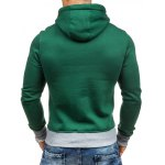 Star Printed Color Block Pullover Green Hoodie for sale