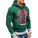 Star Printed Color Block Pullover Green Hoodie deal